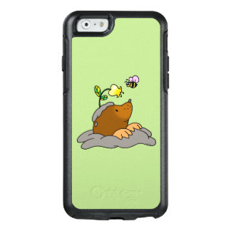 cute mole cartoon with a flower bee OtterBox iPhone 6/6s case