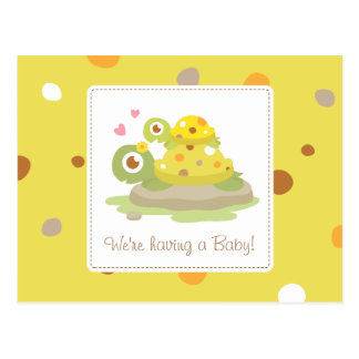 Cute Mom and Child Turtle Baby Newborn Post Cards
