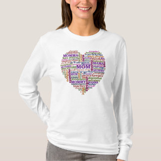 Cute Mom Mother's Day Word Art Heart T-Shirt