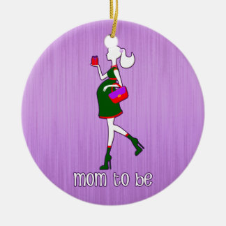 Cute Mom To Be Maternity Personalized Dated Christmas Ornament