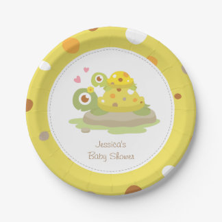 Cute Mommy Turtle Baby Shower Party Supplies Paper Plate