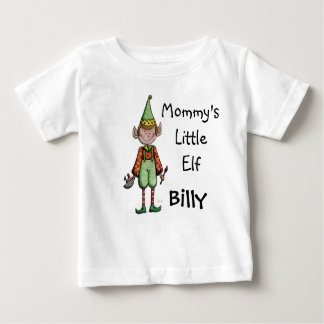 Cute Mommy's Little Elf Baby T shirt