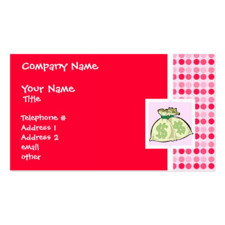 Cute Money Bags Business Card Template