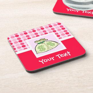 Cute Money Bags Drink Coaster