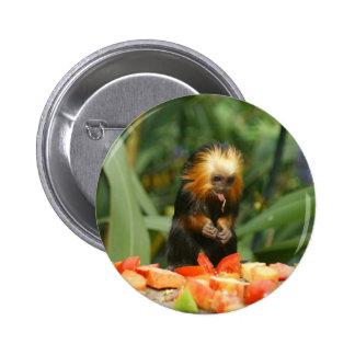 Cute Monkey 6 Cm Round Badge