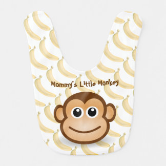 Cute Monkey and Bananas Bib