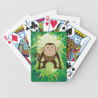 Cute Monkey Bicycle Playing Cards