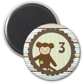 Cute Monkey Birthday Magnet