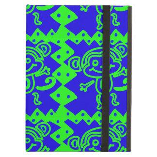 Cute Monkey Blue Lime Green Animal Pattern iPad Air Case