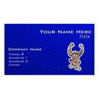 Cute Monkey; Blue Pack Of Standard Business Cards