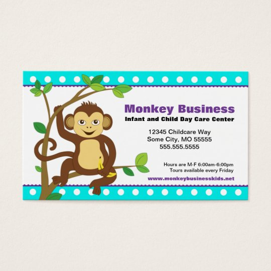 Cute Monkey Business Card