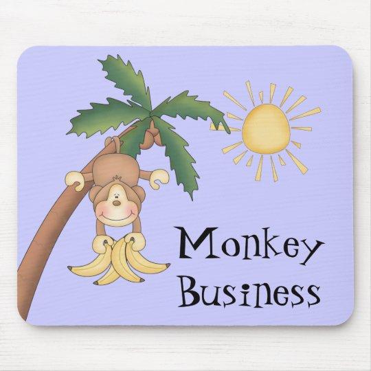 Cute Monkey Business Mouse Mat