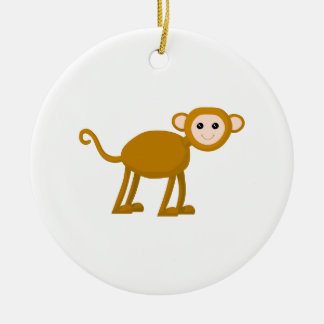 Cute Monkey. Christmas Ornament