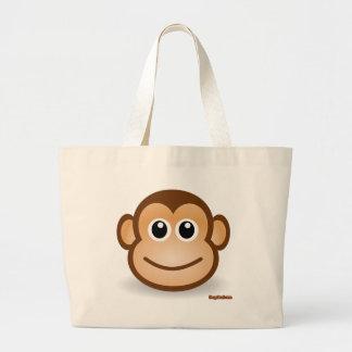 Cute Monkey Face Jumbo Tote Bag