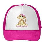 Cute Monkey Girl Cartoon Mesh Hats