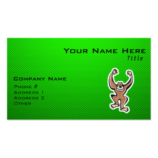 Cute Monkey; Green Pack Of Standard Business Cards