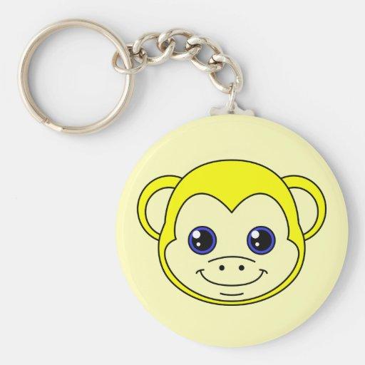 Cute Monkey Lemon Keychain
