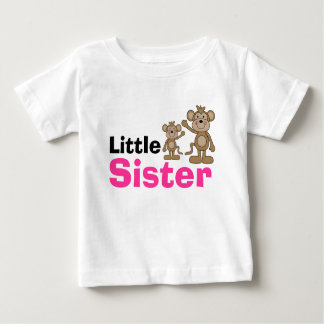 Cute Monkey Little Sister Baby T-Shirt