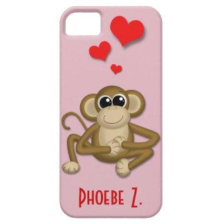 Cute Monkey Love Personalised iPhone 5 Case