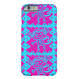 Cute Monkey Magenta Teal Animal iPhone 6 Case