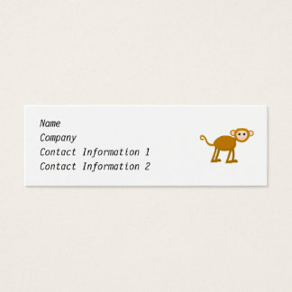 Cute Monkey. Mini Business Card