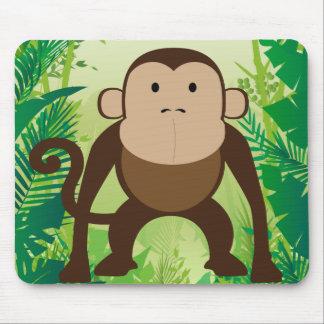 Cute Monkey Mouse Pad
