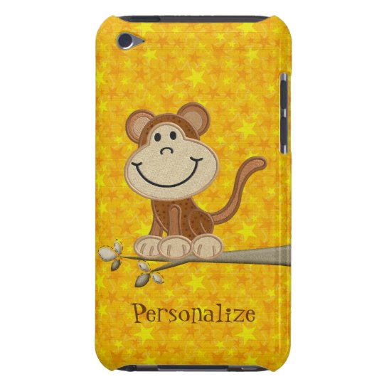 Cute Monkey on Branch Personalised iPod Touch Case