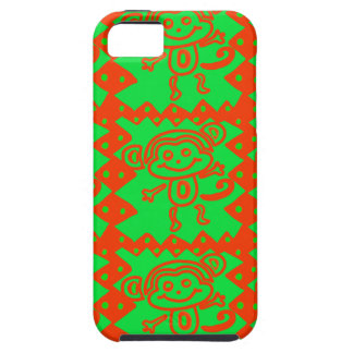 Cute Monkey Orange Green Animal Pattern Case For The iPhone 5