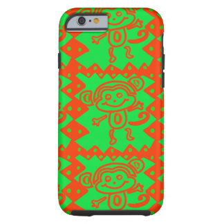 Cute Monkey Orange Green Animal Pattern Tough iPhone 6 Case