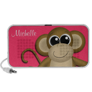 Cute Monkey Personalized Berry Doodle Speaker