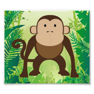 Cute Monkey Photo Art