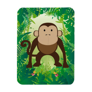 Cute Monkey Rectangle Magnets