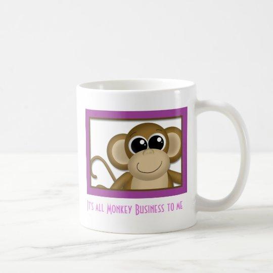 Cute Monkey Purple Mug