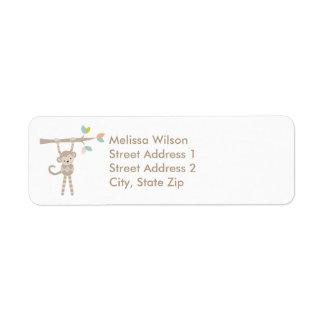 Cute Monkey Return Address Labels