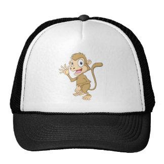 Cute Monkey Waving Hand Hi Hello Goodbye Cap