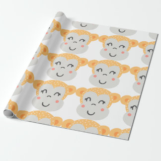 Cute monkey wrapping paper