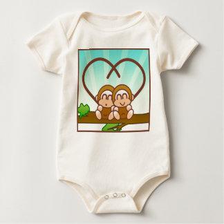 Cute Monkeys Baby Bodysuit