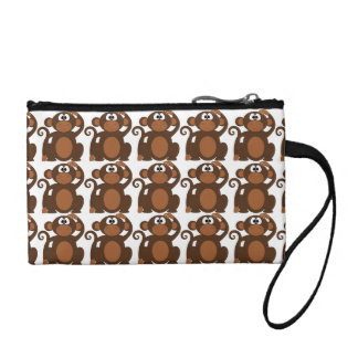 Cute monkeys wristlet