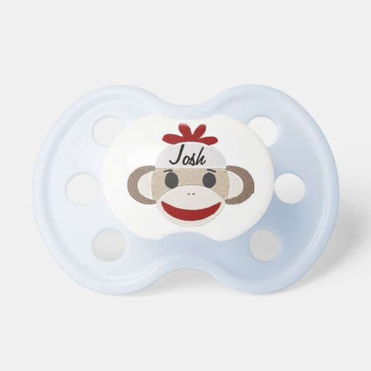 Cute MONOGRAM/Sock Monkey PACIFIER