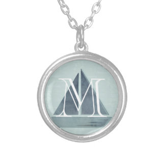 Cute Monogrammed Sailor Boat Necklace