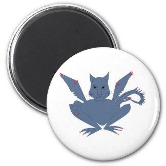 Cute Monster 6 Cm Round Magnet