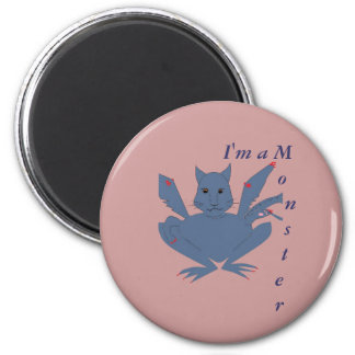 Cute Monster 6 Cm Round Magnet