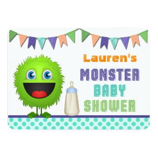 Cute Monster Baby Shower 13 Cm X 18 Cm Invitation Card