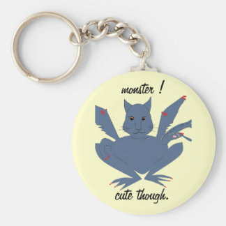 Cute Monster Basic Round Button Key Ring