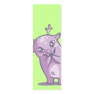 Cute Monster Bookmark Business Card Template