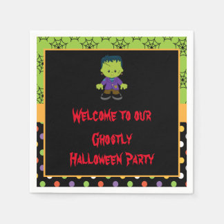 Cute Monster Boy Halloween Costume Party Disposable Napkin