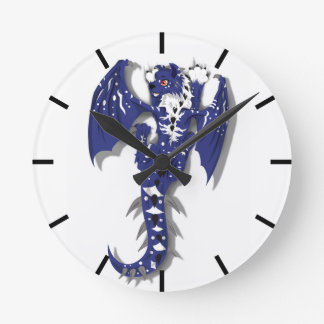 Cute Monster Dragon Round Clock