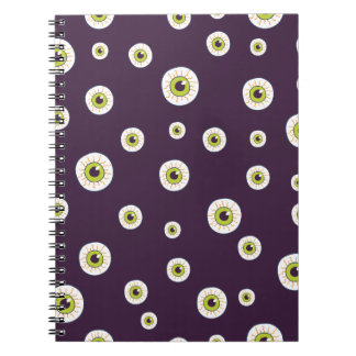 Cute monster eyes pattern notebooks