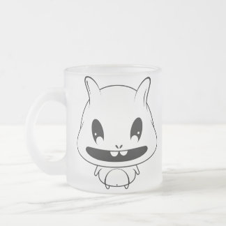 Cute Monster Frosted Glass Coffee Mug