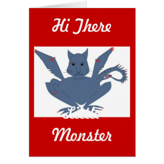 Cute Monster Greeting Card
